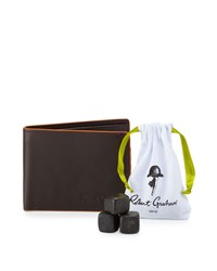 Robert Graham Slimfold Wallet And Whiskey Stone Gift Set Brown
