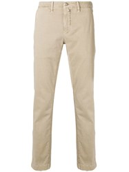 Jacob Cohen Handkerchief Slim Fit Chinos Nude And Neutrals