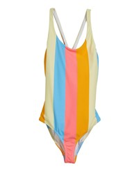 Milly Minis Neon Stripe Scoop One Piece Swimsuit Size 4 6 Multi