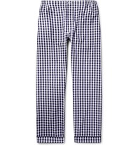 Sleepy Jones Marcel Gingham Cotton Pyjama Trousers Navy