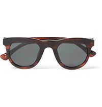 Dries Van Noten Linda Farrow Square Frame Acetate Sunglasses Burgundy