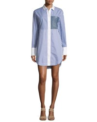 Elizabeth And James Jay Long Sleeve Striped Shirtdress Multicolor