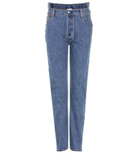 Vetements X Levi's High Waisted Reworked Denim Jeans Blue