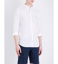 Tommy Hilfiger Classic Fit Cotton And Linen Blend Shirt Classic White