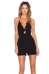 For Love And Lemons Garden Isle Romper Black