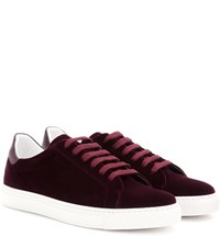Anya Hindmarch Wink Velvet Sneakers Red