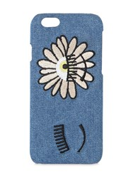 Chiara Ferragni Daisy Embroidered Denim Iphone 7 Case