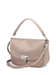 Aspinal Of London Letterbox Slouchy Saddle Bag Neutral