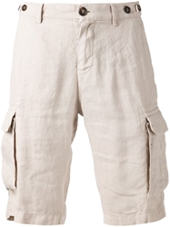 Brunello Cucinelli Cargo Shorts Nude And Neutrals