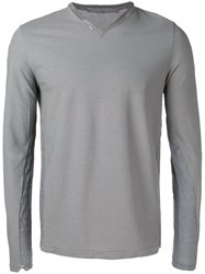 Transit V Neck Jumper Grey