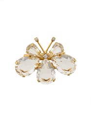 Ermanno Scervino Butterfly Pin Metallic