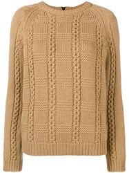 Red Valentino Crew Neck Knit Sweater Brown