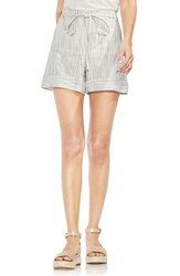 Vince Camuto Tie Front Striped Shorts Rich Black