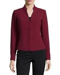 Lafayette 148 New York Mandarin Collar Wool Jacket Merlot