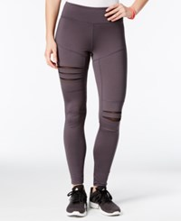 Jessica Simpson The Warm Up Juniors' Ripped Yoga Leggings Pebble Grey
