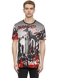 Dolce And Gabbana Jazz Printed Cotton Jersey T Shirt