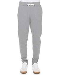 Tomas Maier Lightweight Fleece Drawstring Sweatpants Gray