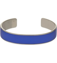 Aspinal Of London Cleopatra Skinny Leather Inlay Cuff Bangle S Blue
