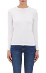 Barneys New York Women's Long Sleeve T Shirt White
