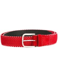 Orciani Woven Belt Red