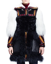 Chloe Persian Tapestry Shearling Fur Coat