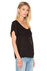 Velvet By Graham And Spencer Buttercup Cotton Gauze Top Black