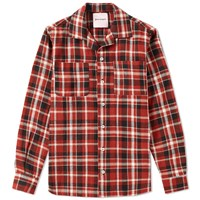 Palm Angels Check Overshirt Red