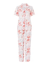 Cyberjammies Grace Flamingo Print Pj Set Pink