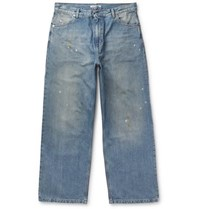 Our Legacy Vast Wide Leg Distressed Denim Jeans Blue