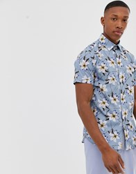 Ted Baker Shirt With Floral Print In Blue