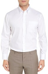 Nordstrom 'S Big And Tall Men's Shop Traditional Fit Non Iron Solid Dress Shirt White