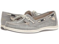 Sperry Barrelfish Heavy Linen Grey Women's Lace Up Casual Shoes Gray