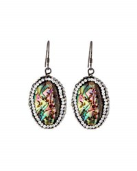 Panacea Luxe Pave Abalone Hue Drop Earrings Multi