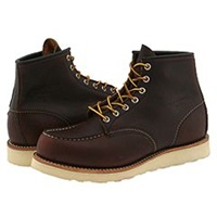 Red Wing Shoes 6 Moc Toe Briar Oil Slick Men's Lace Up Boots Mahogany