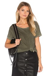 Cotton Citizen Marbella Crew Neck Tee Olive