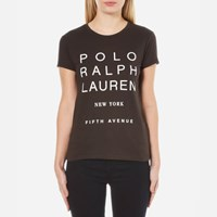 Polo Ralph Lauren Women's Graphic T Shirt Grey Ghost