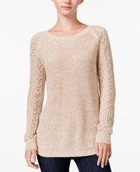 Maison Jules Crew Neck Sweater Only At Macy's Oatmeal
