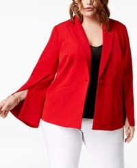 Inc International Concepts I.N.C. Plus Size Split Sleeve Blazer Created For Macy's Real Red