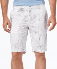 Inc International Concepts Men's Jetsam Print Shorts Only At Macy's White