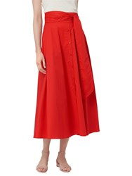 Lk Bennett L.K. Darly Cotton Skirt Aurora Red