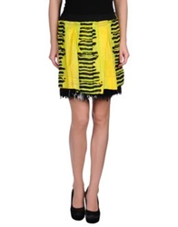 Roberto Cavalli Mini Skirts Yellow