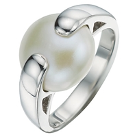A B Davis Sterling Silver Gemstone Pebble Ring White