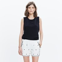 Madewell Embroidered Pull On Shorts