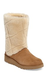 Uggr Women's Ugg Ariella Luxe Diamond Genuine Shearling Boot Chocolate Suede