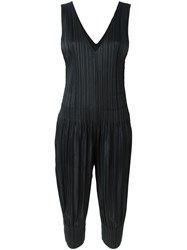 Issey Miyake Pleats Please By Sleeveless Pleated Jumpsuit Black