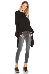 Black Orchid Thumbhole Crew Neck Tee Black
