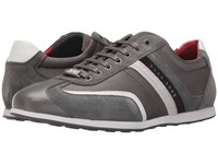 Hugo Boss Stiven By Boss Green Medium Grey Men's Lace Up Casual Shoes Gray