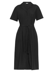 Tomas Maier Airy Notch Collar Cotton Poplin Dress