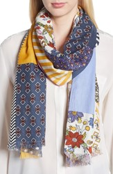Tory Burch Patchwork Printed Oblong Scarf Multi