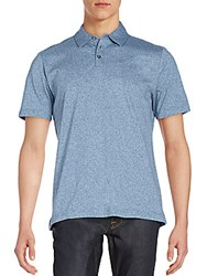 Robert Barakett Mouline Cotton Polo Shirt Pacific